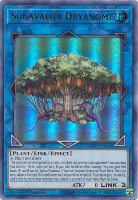 YuGiOh Ghosts From the Past Ultra Rare Sunavalon Dryanome GFTP-EN020