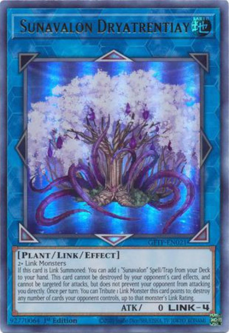 YuGiOh Ghosts From the Past Ultra Rare Sunavalon Dryatrentiay GFTP-EN021
