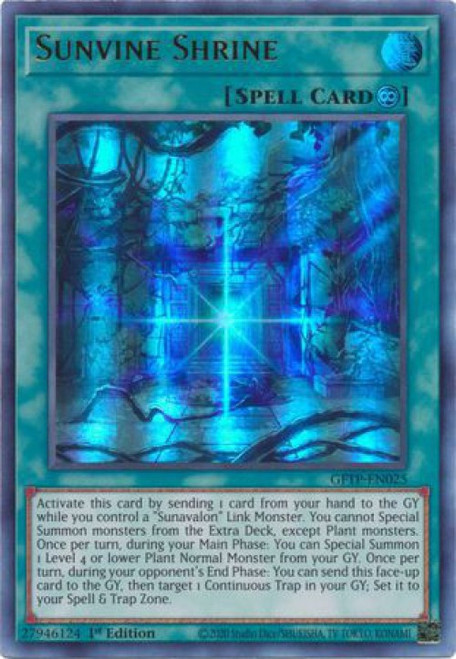 YuGiOh Ghosts From the Past Ultra Rare Sunvine Shrine GFTP-EN025