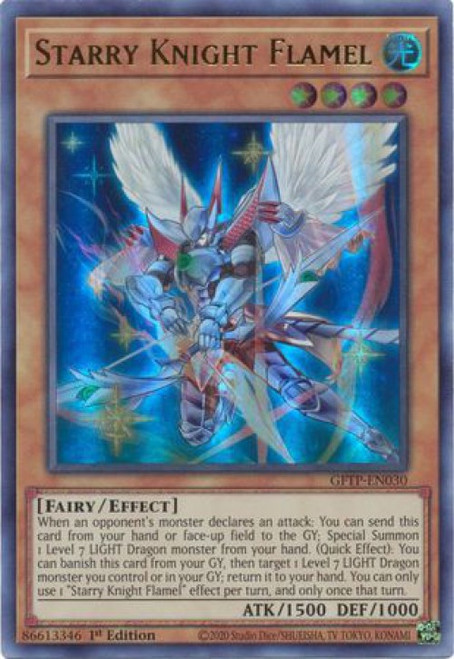 YuGiOh Ghosts From the Past Ultra Rare Starry Knight Flamel GFTP-EN030