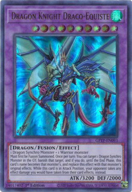 YuGiOh Ghosts From the Past Ultra Rare Dragon Knight Draco-Equiste GFTP-EN093
