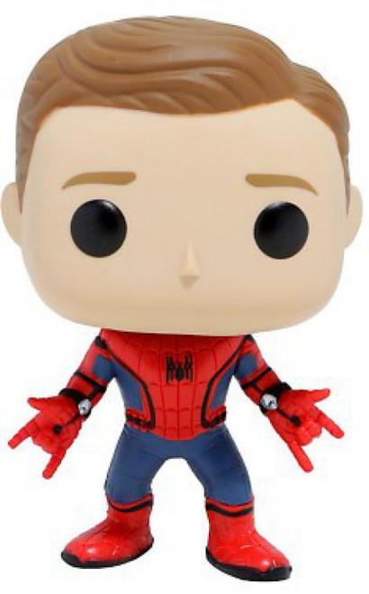 Funko Spider-Man: Homecoming POP! Marvel Spider-Man Exclusive Vinyl Bobble Head #221 [Unmasked, Regular Suit, Loose]