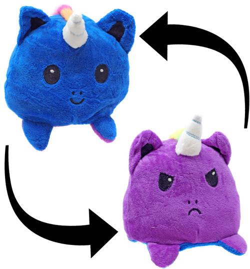 Reversible Plush Dark Blue & Purple 4-Inch