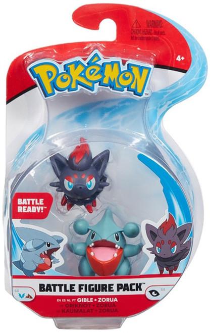 Pokemon Battle Figure Gible & Zorua 3-Inch Mini Figure 2-Pack