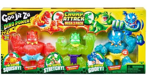 Heroes of Goo Jit Zu Dino Power (Series 3) Tritops, Verapz & Tyro Exclusive Action Figure 3-Pack Mega Pack [Chomp Attack] (Pre-Order ships October)