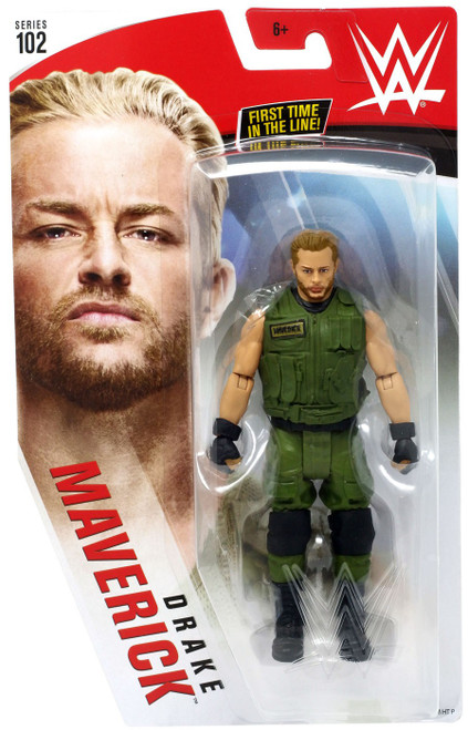 WWE Wrestling Series 102 Drake Maverick Action Figure [Green Attire, Damaged Package]