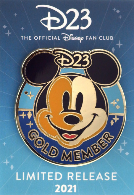 Disney Twenty Three D23 Gold Member Exclusive 1.5-Inch Pin