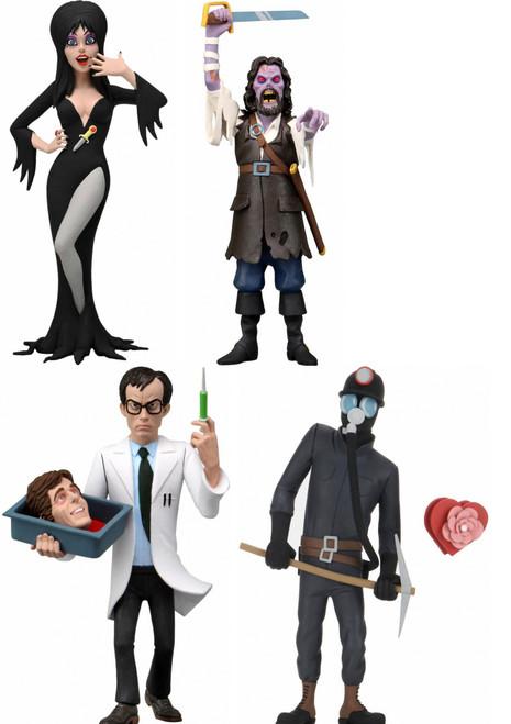NECA Toony Terrors Series 6 Captain Blake, Elvira, Herbert West & The Miner Set of 4 Action Figures (Pre-Order ships October)