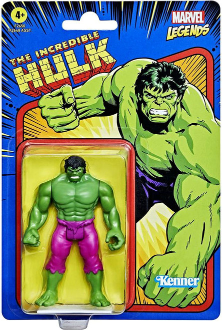 The Incredible Hulk 2021 Marvel Legends Retro Collection Wave 1 Hulk (Green) Action Figure
