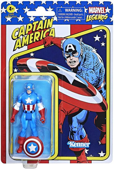 2021 Marvel Legends Retro Collection Wave 1 Captain America Action Figure