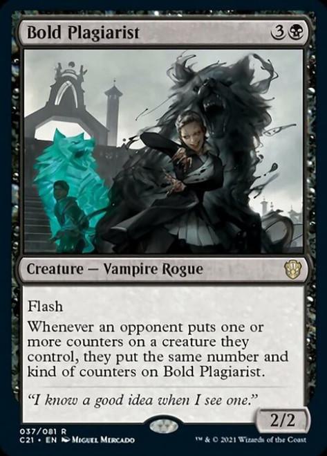 MtG Commander 2021 Rare Bold Plagiarist #37