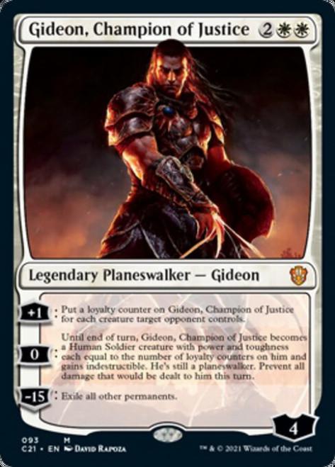 MtG Commander 2021 Mythic Rare Gideon, Champion of Justice #93