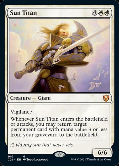 MtG Commander 2021 Mythic Rare Sun Titan #106