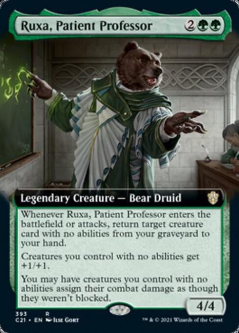 MtG Commander 2021 Rare Ruxa, Patient Professor #393 [Extended Art]