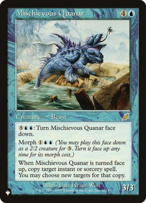 MtG Mystery Booster / The List Rare Mischievous Quanar #42 [Scourge]