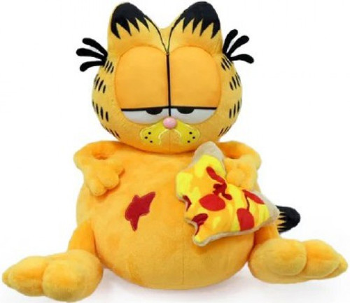 Overstuffed Garfield with Pizza 13-Inch Medium Plush (Pre-Order ships September)