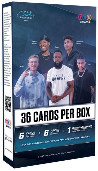 TruCreator, Inc. 2021 Creators Collection Series 1 Trading Card BLASTER Box [6 Packs, 1 Hit Per Box]