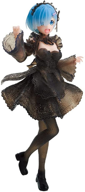 Re:Zero Starting Life in Another World Rem 8.5-Inch Collectible PVC Figure [Translucent Black Lace Dress] (Pre-Order ships January)