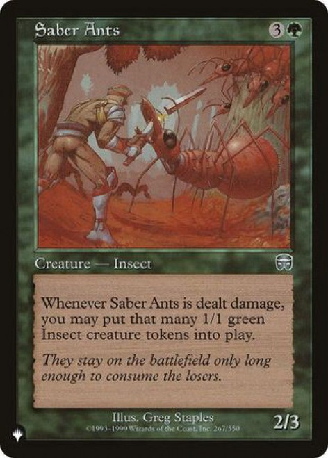 MtG Mystery Booster / The List Uncommon Saber Ants #267