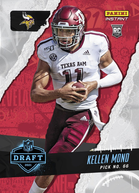 NFL Minnesota Vikings 2021 Instant Football Draft Night Kellen Mond Trading Card (Pre-Order ships June)