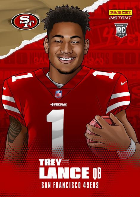 NFL San Francisco 49ers 2021 Instant Football Draft Night Illustrations Trey Lance Trading Card (Pre-Order ships June)