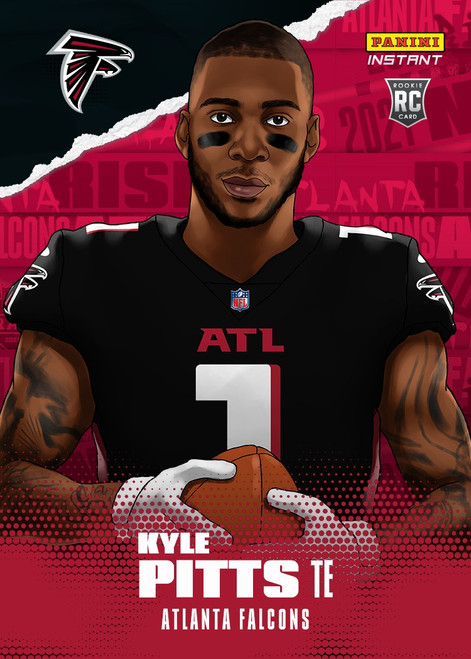 NFL Atlanta Falcons 2021 Instant Football Draft Night Illustrations Kyle Pitts Trading Card (Pre-Order ships June)