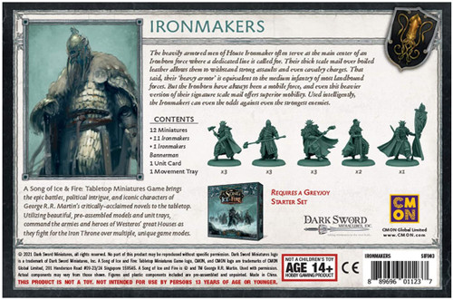 A Song of Ice & Fire Greyjoy Ironmakers Unit Box