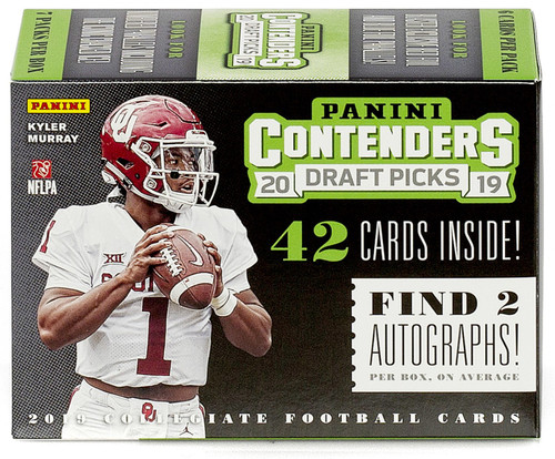 Collegiate Panini 2019 Contenders Draft Picks Football Trading Card BLASTER Box [7 Packs]
