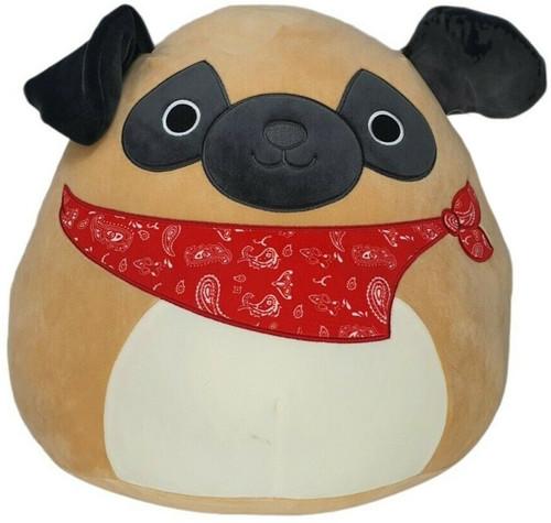 Squishmallows Prince the Pug 16-Inch Plush [Red Bandana]