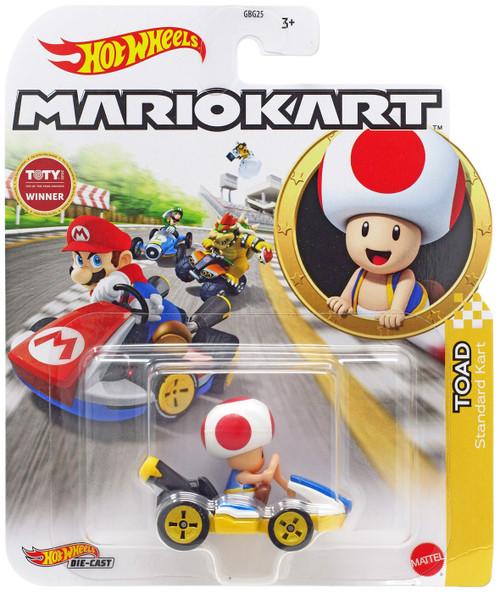 Hot Wheels Mario Kart Toad Diecast Car [Standard Kart]