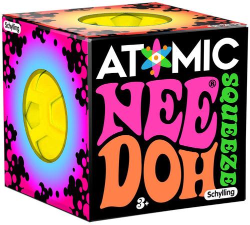 NeeDoh The Groovy Glob Atomic YELLOW 2.5-Inch Small Stress Ball