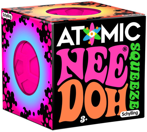 NeeDoh The Groovy Glob Atomic PINK 2.5-Inch Small Stress Ball