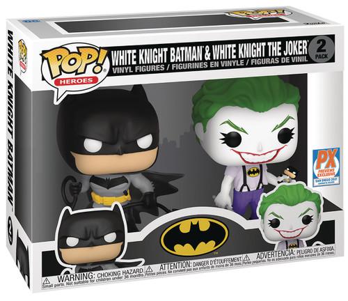 Funko Marvel Batman White Knight POP! DC Batman & Joker Vinyl Figure 2-Pack [SDCC 2021] (Pre-Order ships July)