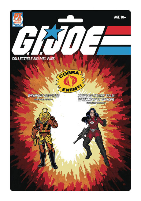 GI Joe Profit Director Destro & Crimson Baroness Exclusive Pin Set [SDCC 2021] (Pre-Order ships July)