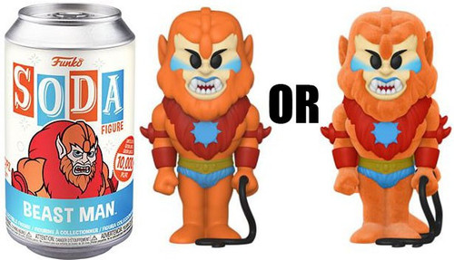 Funko Masters of the Universe Vinyl Soda Beast Man Limited Edition of 10,000! Vinyl Figure [1 RANDOM Figure Look For The Chase!] (Pre-Order ships July)