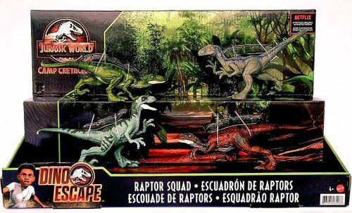 Jurassic World Camp Cretaceous Raptor Squad Exclusive Action Figure 4-Pack [Blue, Charlie, Delta & Echo] (Pre-Order ships June)