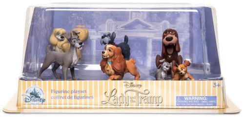 Disney Lady & The Tramp Exclusive 6-Piece PVC Figure Play Set
