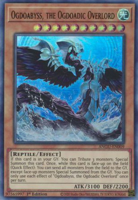 YuGiOh Ancient Guardians Collector's Rare Ogdoabyss, the Ogdoadic Overlord ANGU-EN009