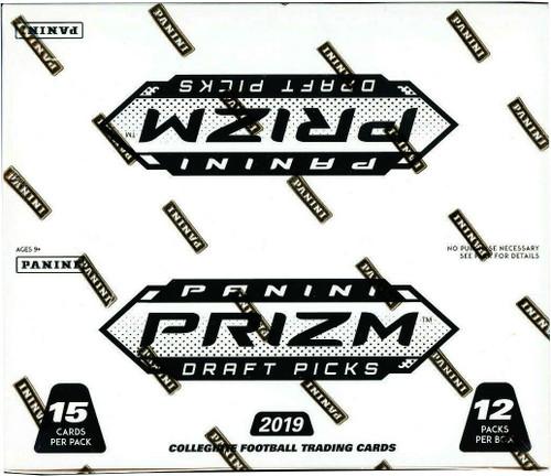 Collegiate Panini 2019 Prizm Draft Picks Football Trading Card VALUE Box [12 Packs]