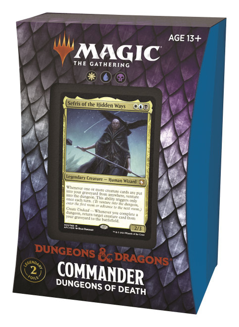 MtG Trading Card Game Adventures in the Forgotten Realms Commander Dungeons of Death Deck