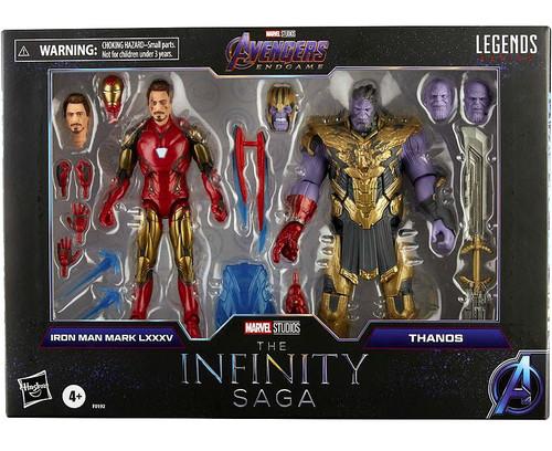 Avengers Marvel Legends Iron Man Mark 85 & Thanos Action Figure 2-Pack [The Infinity Saga] (Pre-Order ships August)