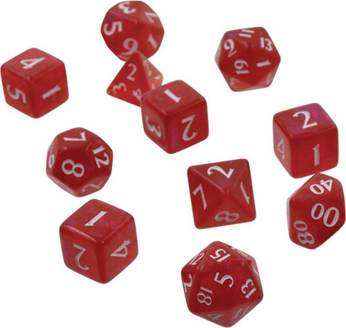 Ultra Pro The Eclipse Dice Apple Red Polyhedral 11-Die Dice Set (Pre-Order ships September)