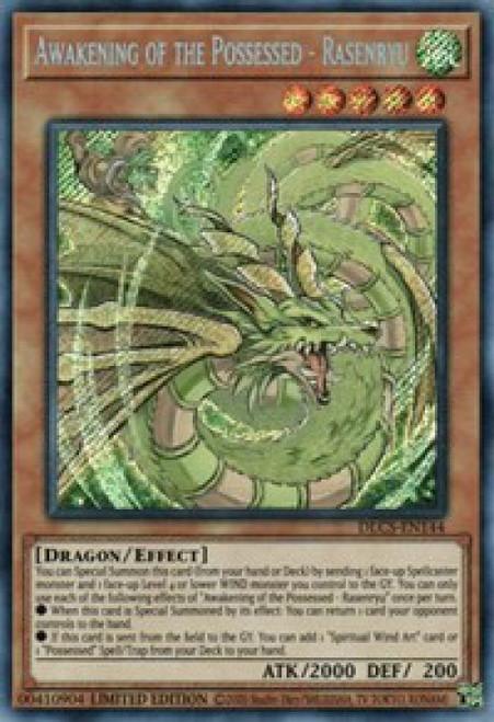 YuGiOh Dragons of Legend: The Complete Series Secret Rare Awakening of the Possessed - Rasenryu DLCS-EN144