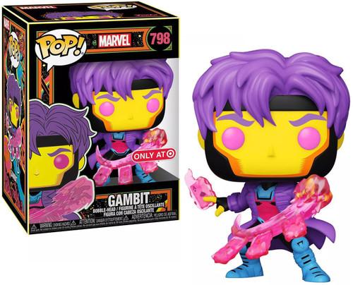 Funko X-Men POP! Marvel Gambit Exclusive Vinyl Bobble Head #798 [Blacklight]