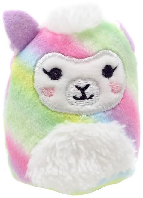 Squishmallows Squishville! Rainbow Dream Squad Rainbow llama 2-Inch Mini Plush