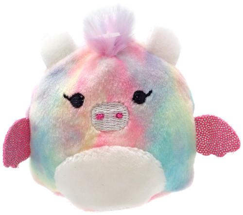 Squishmallows Squishville! Rainbow Dream Squad Pastel Dragon 2-Inch Mini Plush