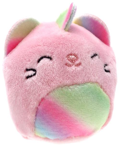 Squishmallows Squishville! Rainbow Dream Squad Pastel Caticorn 2-Inch Mini Plush