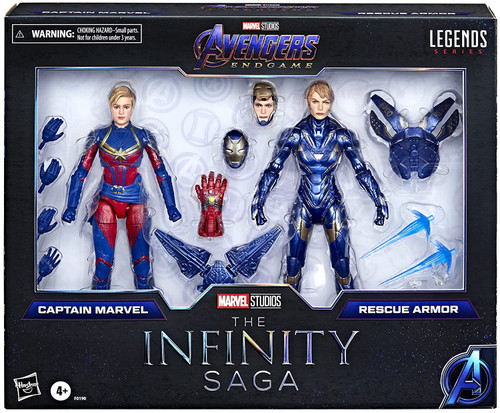 Avengers Endgame Marvel Legends Captain Marvel & Rescue Armor Exclusive Action Figure 2-Pack [The Infinity Saga]
