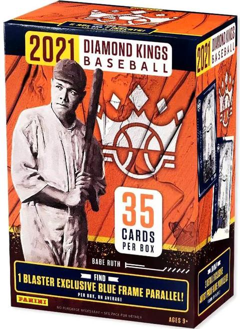 MLB Panini 2021 Diamond Kings Baseball Trading Card BLASTER Box [7 Packs, 1 Blue Frame Parallel]