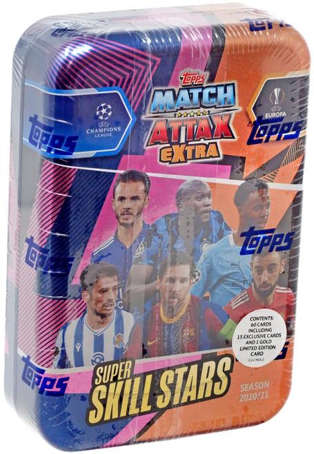UEFA Match Attax Extra 2020-21 Soccer Season Super Skill Stars Collector Tin